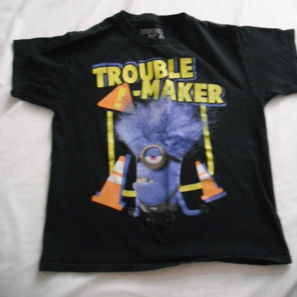 b7786b68d Universal Shirts & Tops | Boys Minion Trouble Maker Tshirt Size 1012 ...